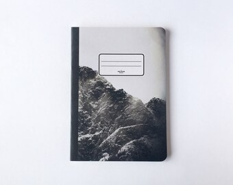 Black Mountain Notebook - Journal - Sketchbook - Blank pages - Lined pages