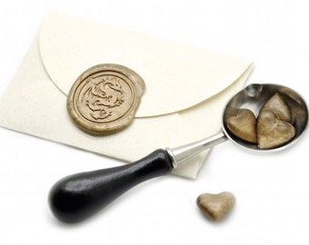 Dragon Wax Seal Stickers - Available in 27 Colors