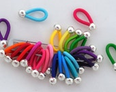 size Small - FLOOPS  knitting stitch markers (20) - Brilliant