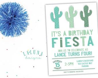 Cactus Invitation, Cactus Birthday Invitation, Fiesta Invitation, Fiesta Birthday, Cactus Birthday Party, Boy Birthday, Girl Birthday
