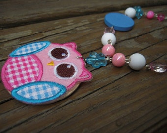 Kawaï pink Owl necklace