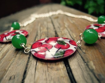 Cherry-shell necklace