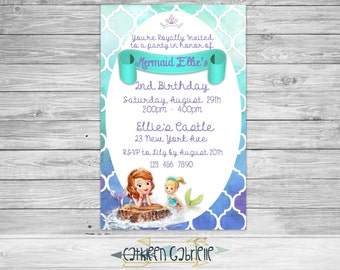 Sofia the First Mermaid Birthday / Invitation / Printable