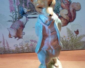 Vintage Beswick Beatrix Potter Figurine FOXY WHISKERED GENTLEMAN 1954