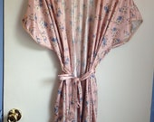 RESERVED CLOSING SALE Pink Floral Robe use code HELLOTX50