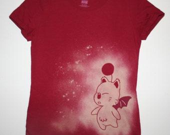 Moogle Inspired Handmade Bleached Shirt