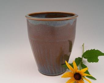 Porcelain Vase Utensil Crock Wine Chiller Kitchen Crock Tall Planter - Blue Pottery - Home Decor - Unique Housewarming Gift or Hostess Gift