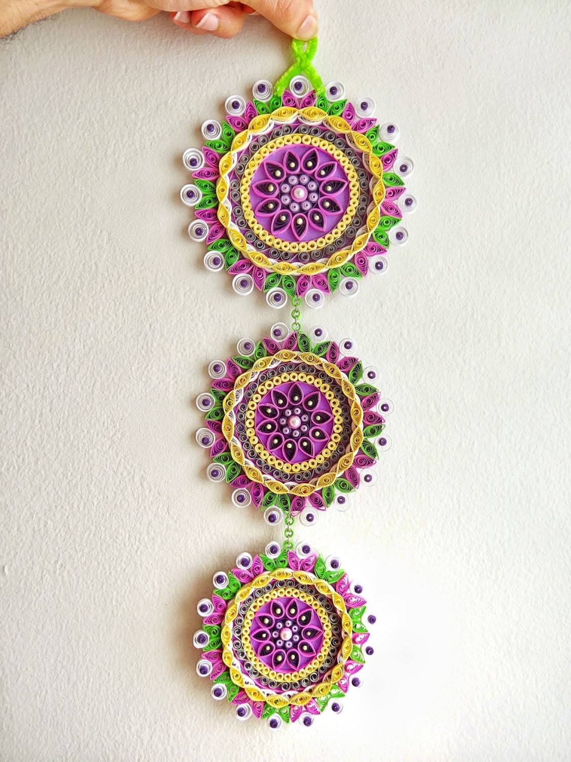 Paper Quilled Flower Quilling Mandala Flower Wall By