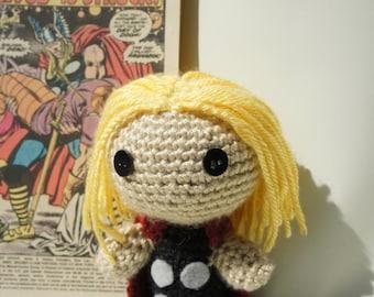 Crocheted Thor Doll