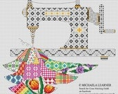 Patchwork Sewing Machine Cross Stitch Instant Download PDF Pattern