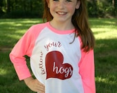 SALE Follow Your Hogs Youth Baseball Tee