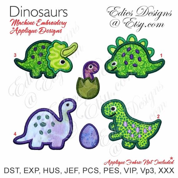 Dinosaurs Dinosaur Set Machine Embroidery Applique Designs
