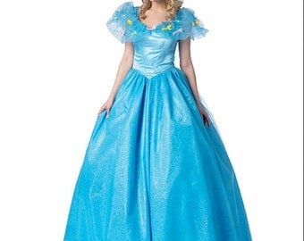 Disney-style CINDERELLA Princess Ball Gown Dress Cosplay SEWING Pattern; Girls 3-8, Teen/Adult (s-XL; 8-22) McCall's 7213 MP440 (2015 Movie)