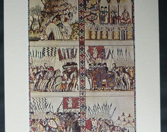 Medieval Illustration of the Holy Crusades Available Framed History Art Holy War Wall Art Historical Decor, Ancient Holy Land, Crusader Gift