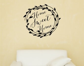 Family Decals - Home Sweet Home Decal - Housewarming Gifts - Home Decals - Home Decor - Wall Decals