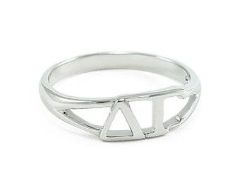Delta Gamma Sterling Silver Ring
