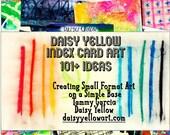 Daisy Yellow Index Card Idea Zine