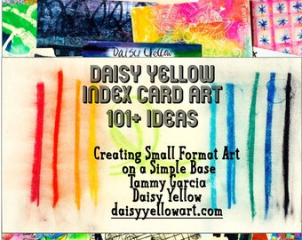 101+ Index Card Ideas Zine Daisy Yellow
