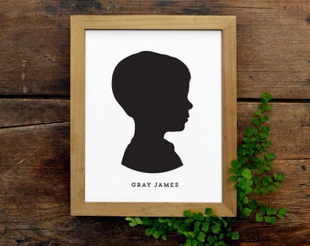 Custom Child Silhouette, Digital File, Detailed & Professional, Personalized Child's Profile, Baby Portrait Makes a great Mother's Day gift!
