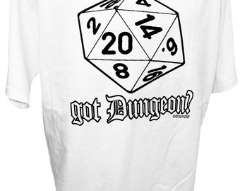MEN'S D20 Got Dungeon Dragons Fantasy Gaming MMORPG 20 Side Dice RPG Tee