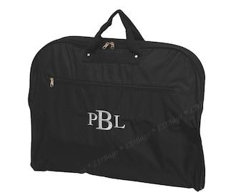 Embroidered Monogram Personalized Garment Bag Luggage | Mens Womans Boys Girls Unisex Garment Bag Dance Cheer Travel Garment Bag Black
