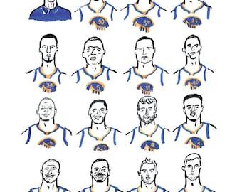 Golden State Warriors Print