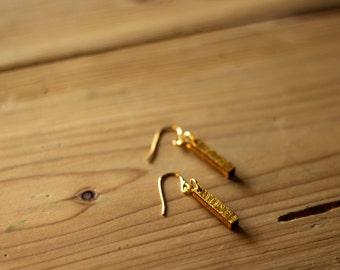 Earrings Rod - gold / silver