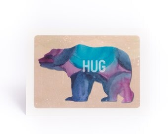 SALE: Bear hug card. Get well card. Thinking of you card.