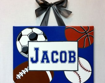 Sport Canvas with Name Larson Designs