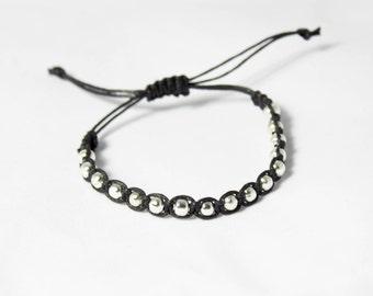 Beaded Bracelet | Nickel free bracelet | Macrame Bracelet | Silver bracelet | Stackable bracelet | Gift for her | Bracelet gift | Boho