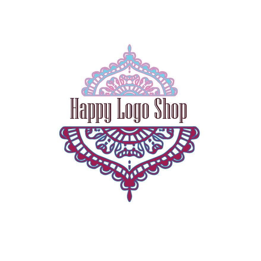 logo business card white watermark black by happylogo on etsy