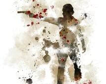 The Walking Dead, Rick Grimes ART PRINT illustration, TV, Wall Art, Home Decor