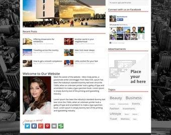 "Responsive Wordpress Theme - Blog Template - Premade Wordpress Theme - Wordpress Blog Theme  - Wordpress Blog Design - ""MISS BLOGGER"""