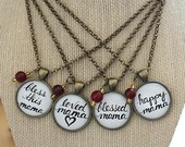 Mama Jewelry, Mom Gift, Mother's Day Handwritten Necklace, LOVE Art Jewelry, Vintage Inspired, You Are Loved, Stepmother, Grandmother