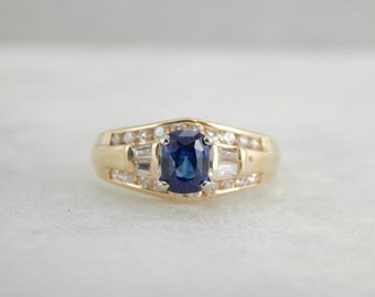 Urban Luxury, Contemporary Sapphire And Diamond Ring In Gold 9XJ58W-N