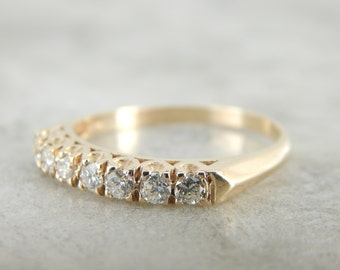 7 Diamond Yellow Gold Wedding Band 9H3U4A-D
