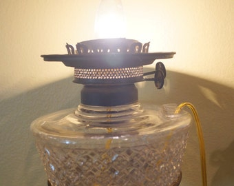 Vintage Oil Lamp Sconce Wired Electric