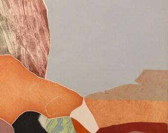 """Gilou Brillant """"Falaise"""" Original Etching S/N Artwork"""
