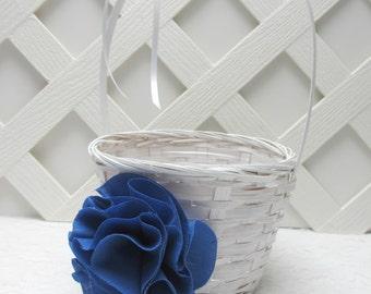 Royal Blue Flower Girl Basket, Cobalt Flower Girl Basket, Royal Blue Wedding, Cobalt Blue Wedding