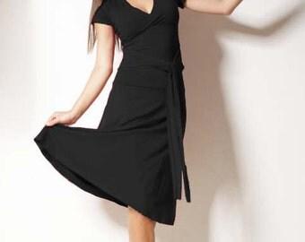 "Jerseydress ""Darling"" black - very classy summerdress made of viscose"