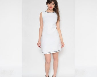 Vintage White Stretchy Dress