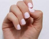 Solid Petal Pink Nail Wraps