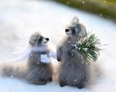 Christmas gift christmas decoration christmas decor gift christmas tree raccoon woodland animal handmade gift for her kawaii stuffed animal