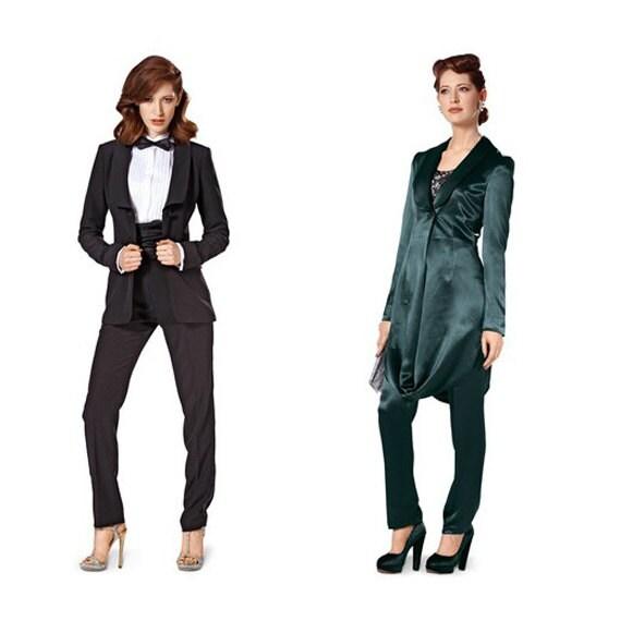 2000S WOMENu0026#39;S TUXEDO PANTSUIT Pattern Formal Pantsuit