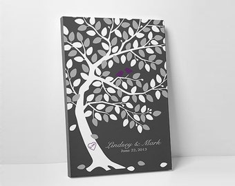 Wedding Tree Guest Book - Unique Guest Book - Wedding Wish Tree - 75-100 Guests - Wrapped Canvas - 16x20,20x30 or 24x36 Inches
