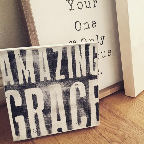 Signs You Re Amazing: Amazing Grace Wooden Sign By HarperismDesignCo On Etsy