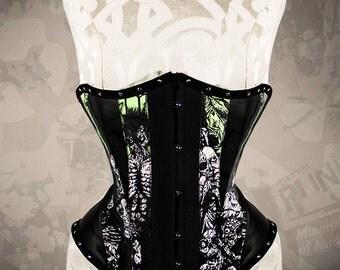 THE MISFITS Steel Boned Underbust corset, steel boned punk underbust, punk gothic corset