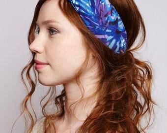 "Wrap headband ""Blue palmtree"""