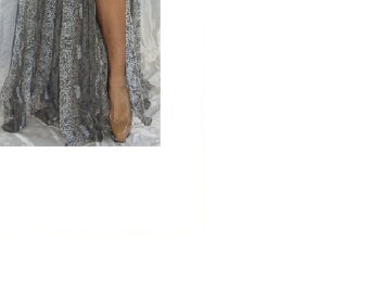 Bellydance Skirt Sheer Snakeskin w Shimmer Size S-M