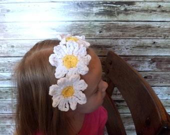 Daisy Chain Headband - Child Daisy Headband - Easter Flower Hair Band